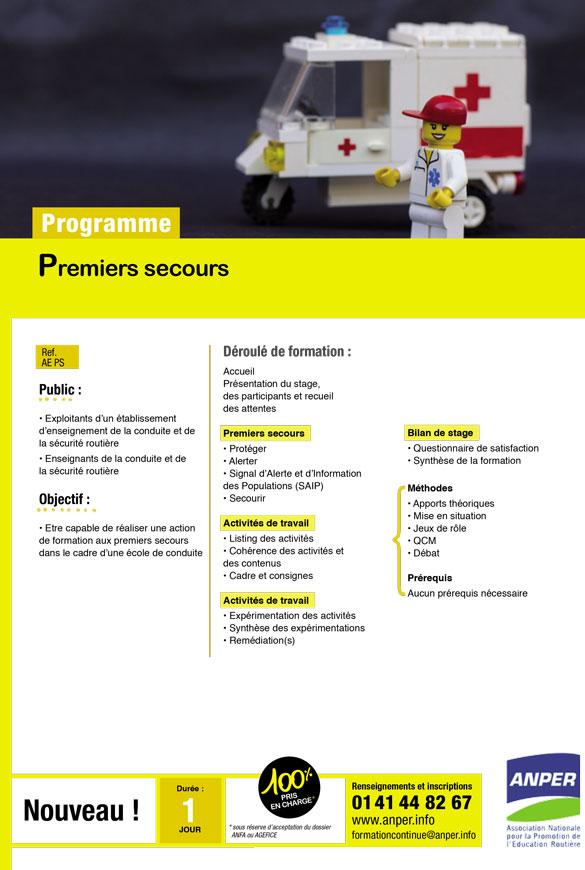 ANPER, programme de formation pour les écoles de conduite en France