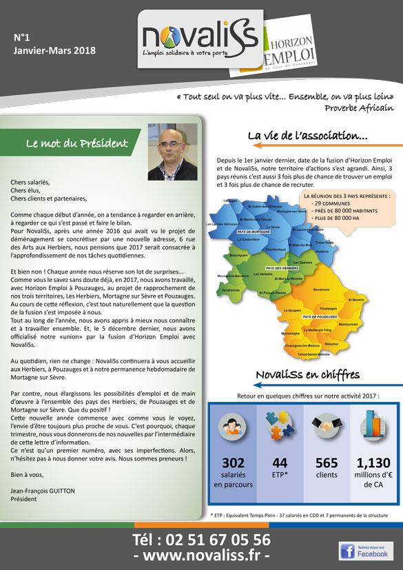 Livret accueil salariés Novaliss aux Herbiers, Vendée